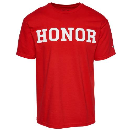 Honor Roll Clothing Mens Honor Roll Clothing Uniform T-Shirt - Mens Red/White Size S