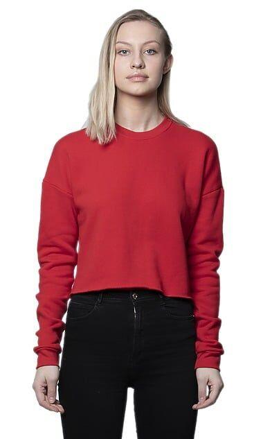 Pack 12 Royal Apparel 3112 - Women's Fashion Fleece Crop Red - S
