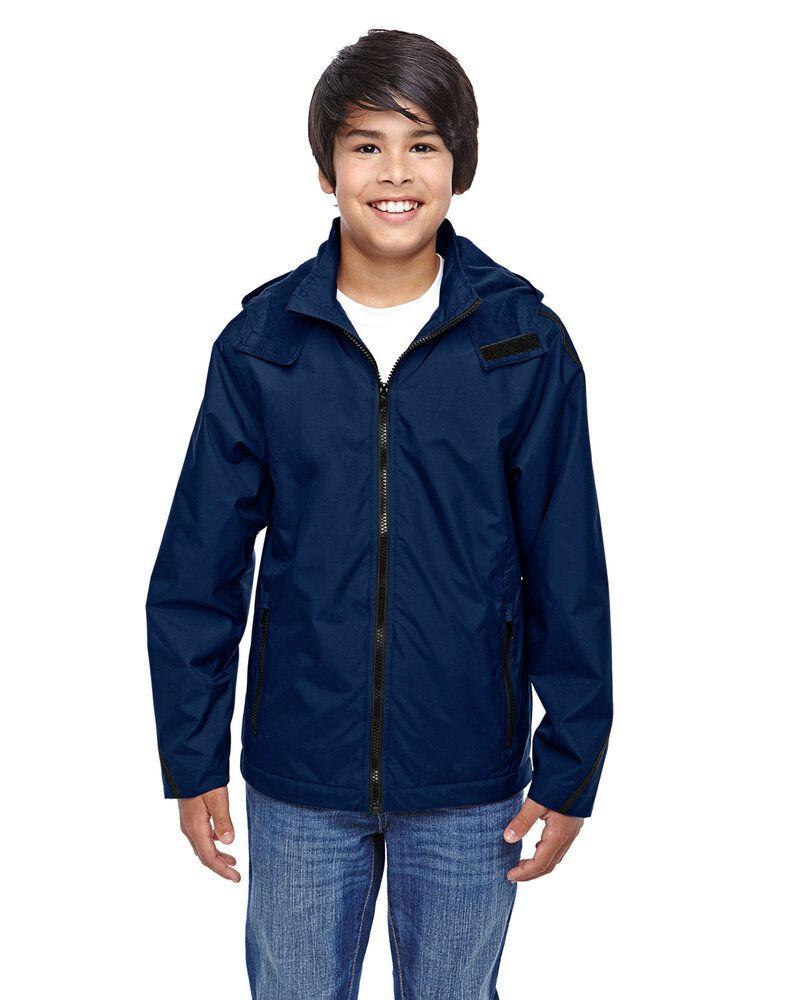 Team 365 TT72Y - Kids Conquest Jacket with Fleece Lining Sport Dark Navy - M