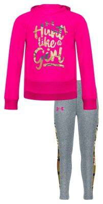 Hunt Like a Girl Hooded Sweatshirt and Pants Set for Babies, Toddlers, or Kids