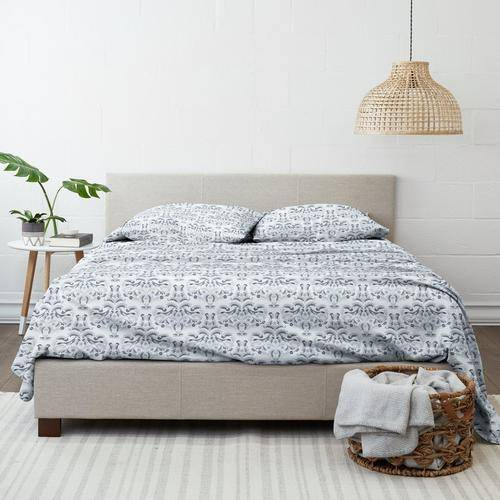 Home Collections Premium Ultra Soft Garden Estate Sheet Set -Blue/White