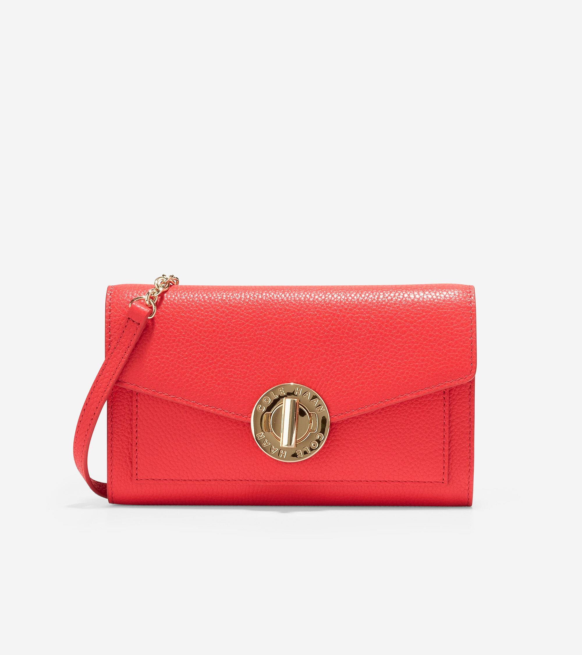 Cole Haan Turnlock Phone Case with Chain size OSFA Cole Haan Wallets for Women. Cayenne Turnlock Pho
