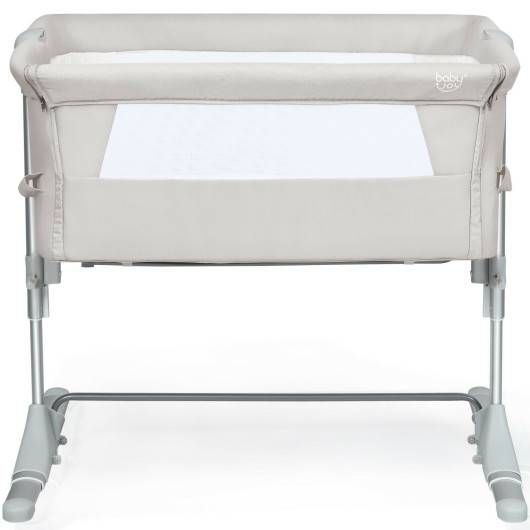 Travel Portable Baby Bed Side Sleeper Bassinet Crib with Carrying Bag-Beige