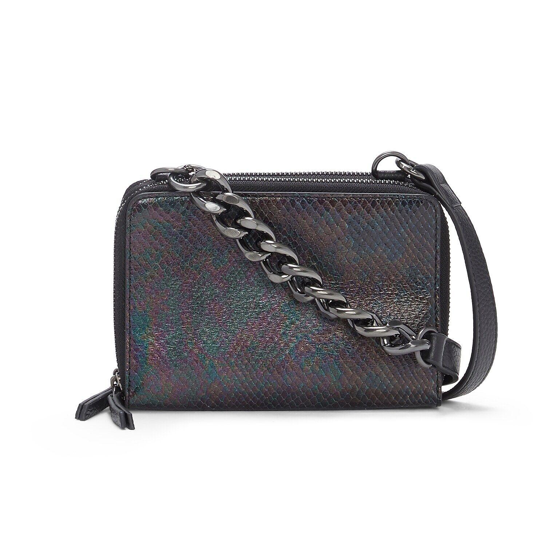 Gilli Leather Wallet   Women's   Black/Oil Slick Rainbow   Size One Size   Handbags   Wallets   Cros