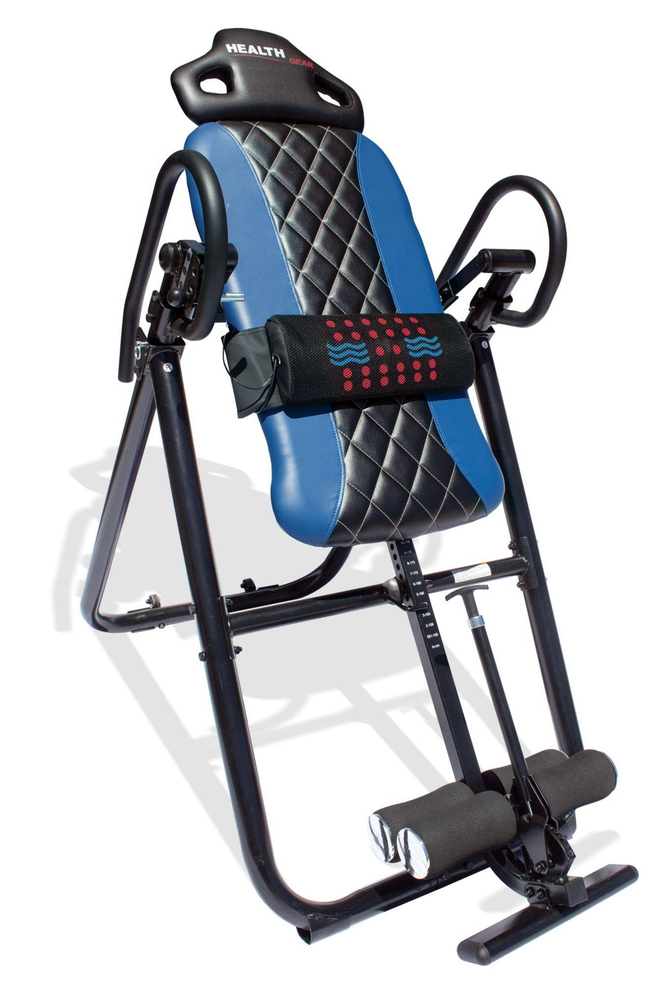 Health Gear Deluxe Heat and Massage Inversion Table, Blue