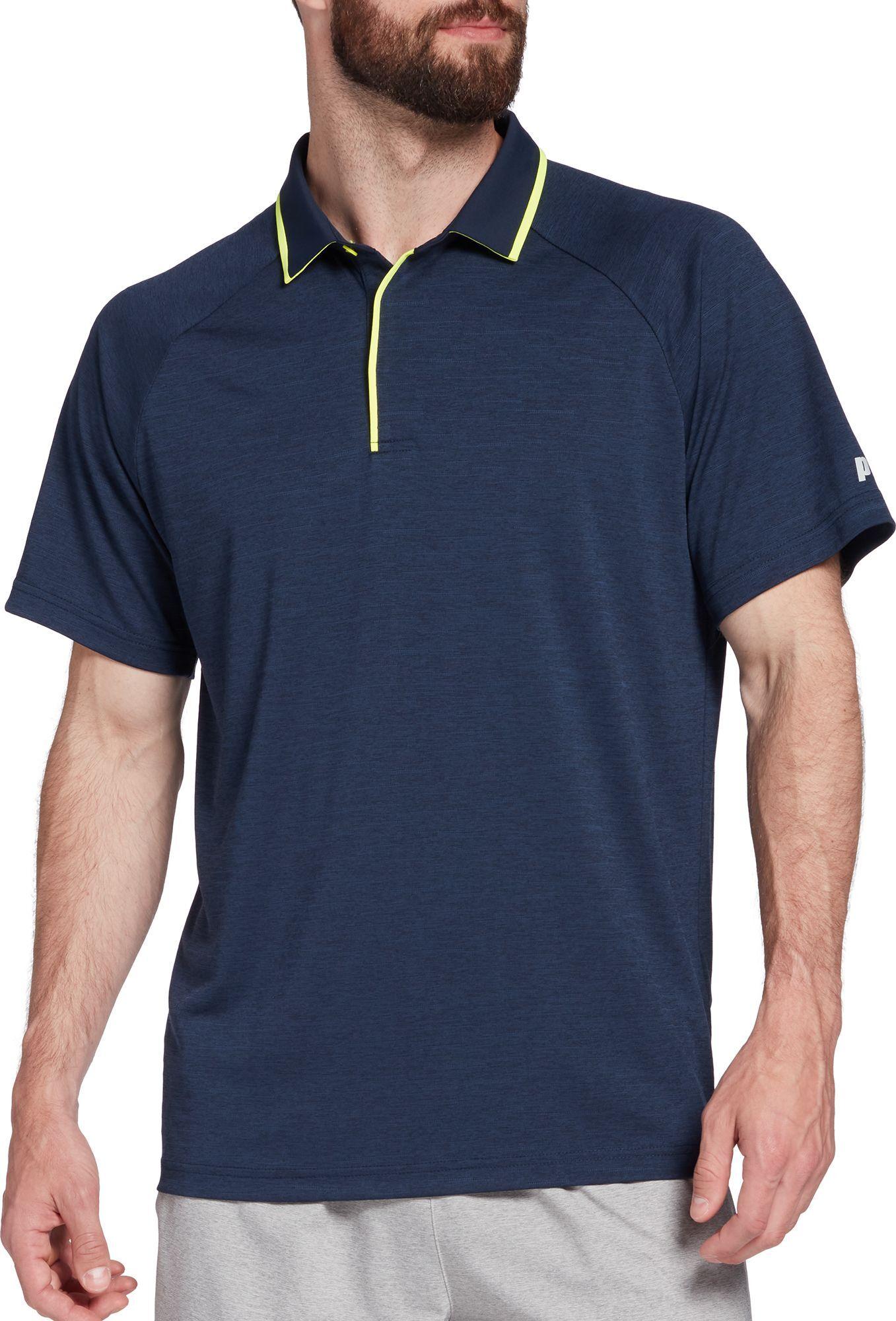 Prince Men's Fashion Short Sleeve Tennis Polo, Medium, Blue