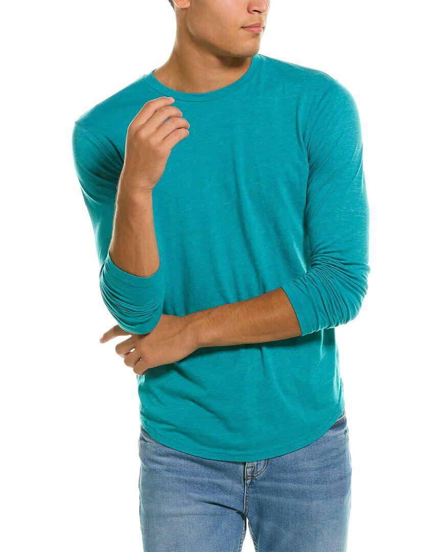 Goodlife Clothing Tri-Blend Scallop Crewneck T-Shirt - Blue - Size: M