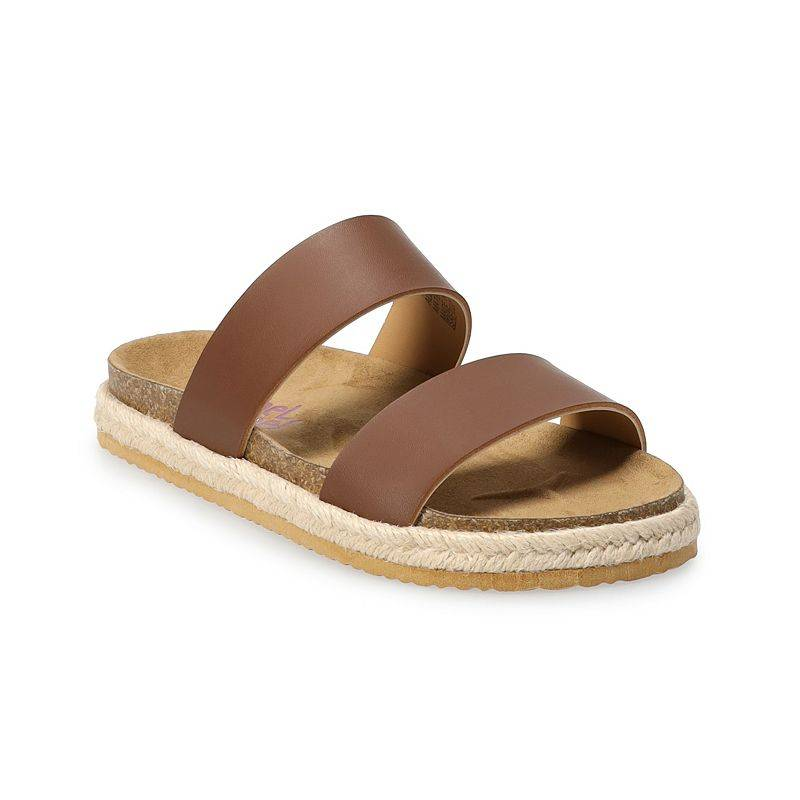Rachel Shoes Arizona Girls' Slide Sandals, Girl's, Size: 3, Brown