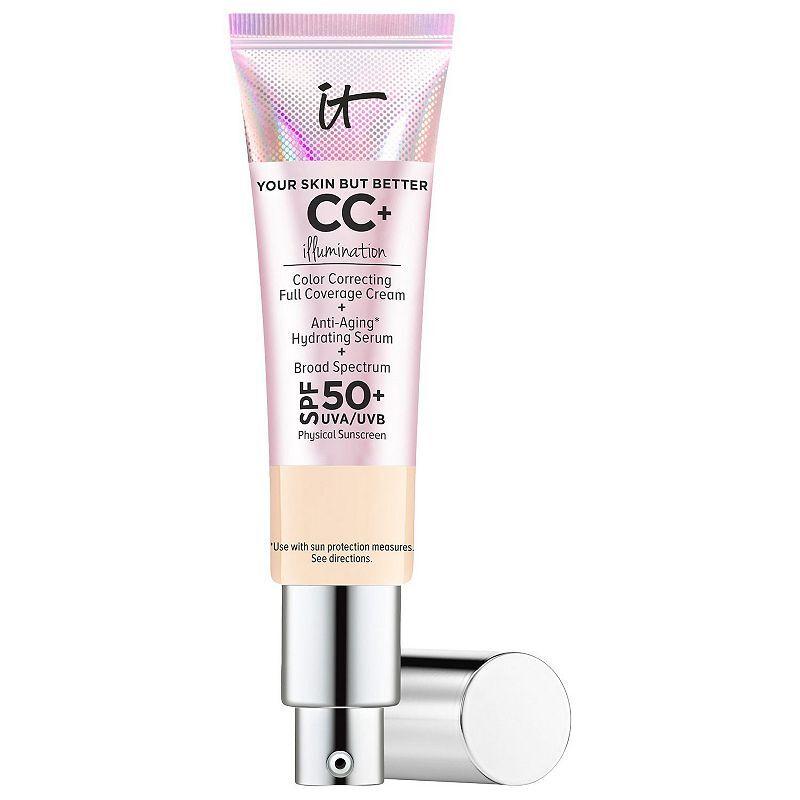 IT Cosmetics CC+ Cream Illumination with SPF 50+, Size: 1.08 FL Oz, Beig/Green