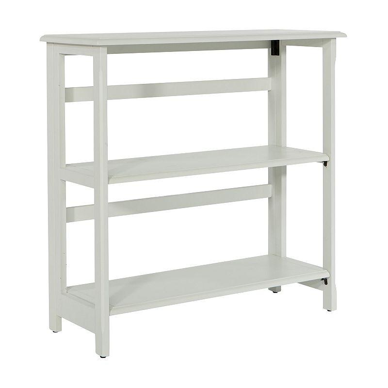 OSP Home Furnishings OSP Designs Brookings 3-Shelf Bookcase, White