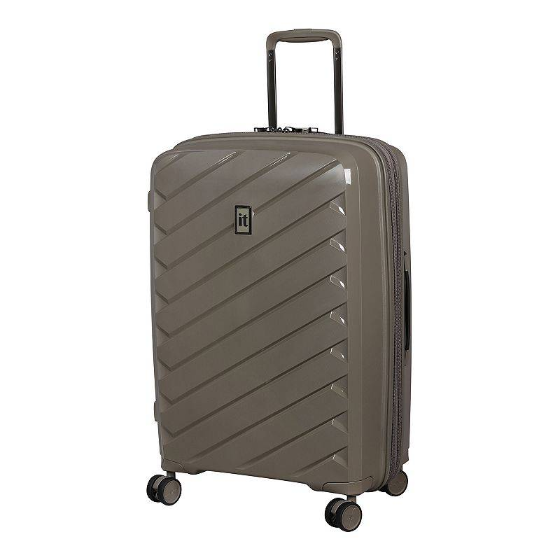 it luggage Influential Hardside Spinner Luggage, Beig/Green, 28 INCH