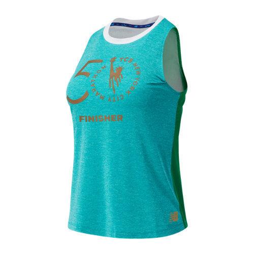 New Balance Women's NYC Marathon Impact Run Fashion Tank  - Green - Size: Large