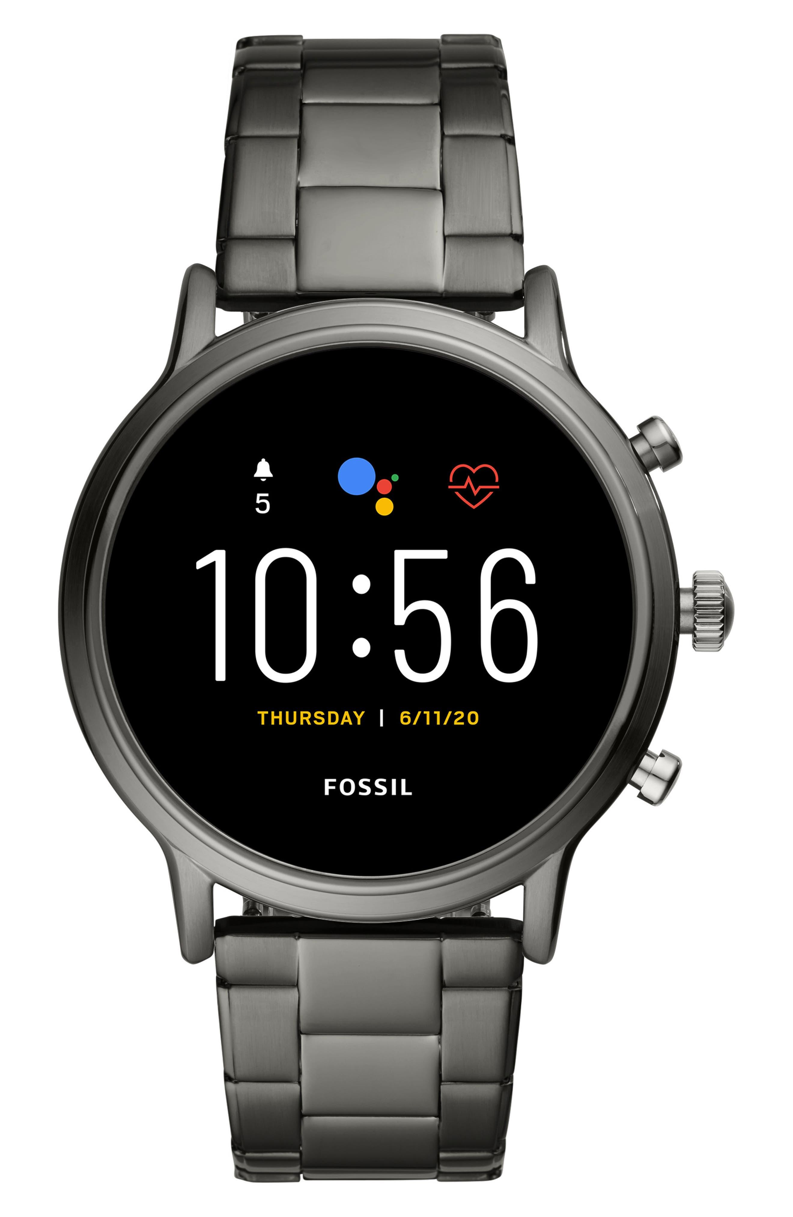 Men's Fossil Carlyle Gen 5 Bracelet Smartwatch, 44mm