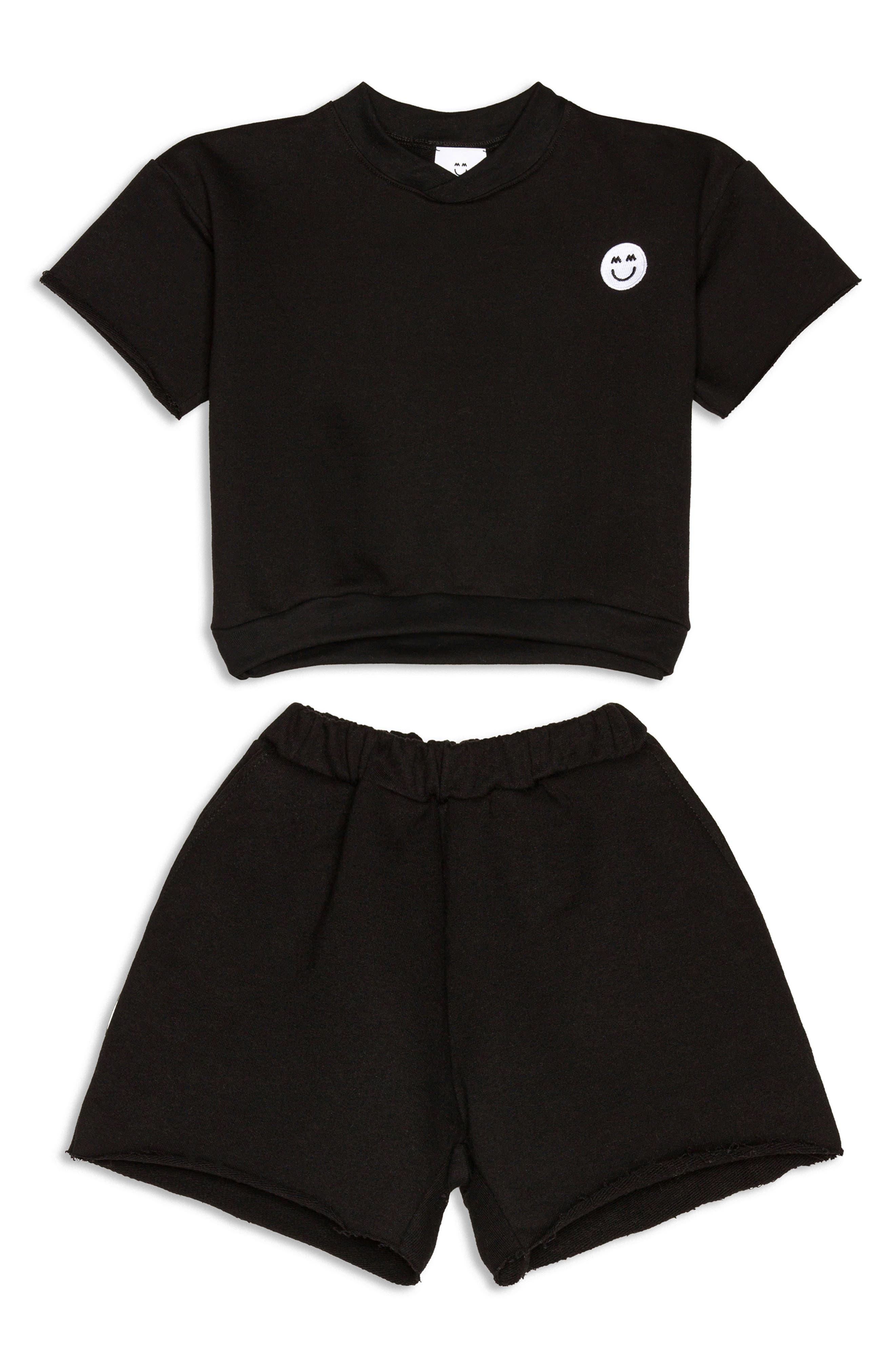 Toddler Miles And Milan Kids' Khary Short Sleeve Sweatshirt & Shorts Set (Baby & Little Kid)