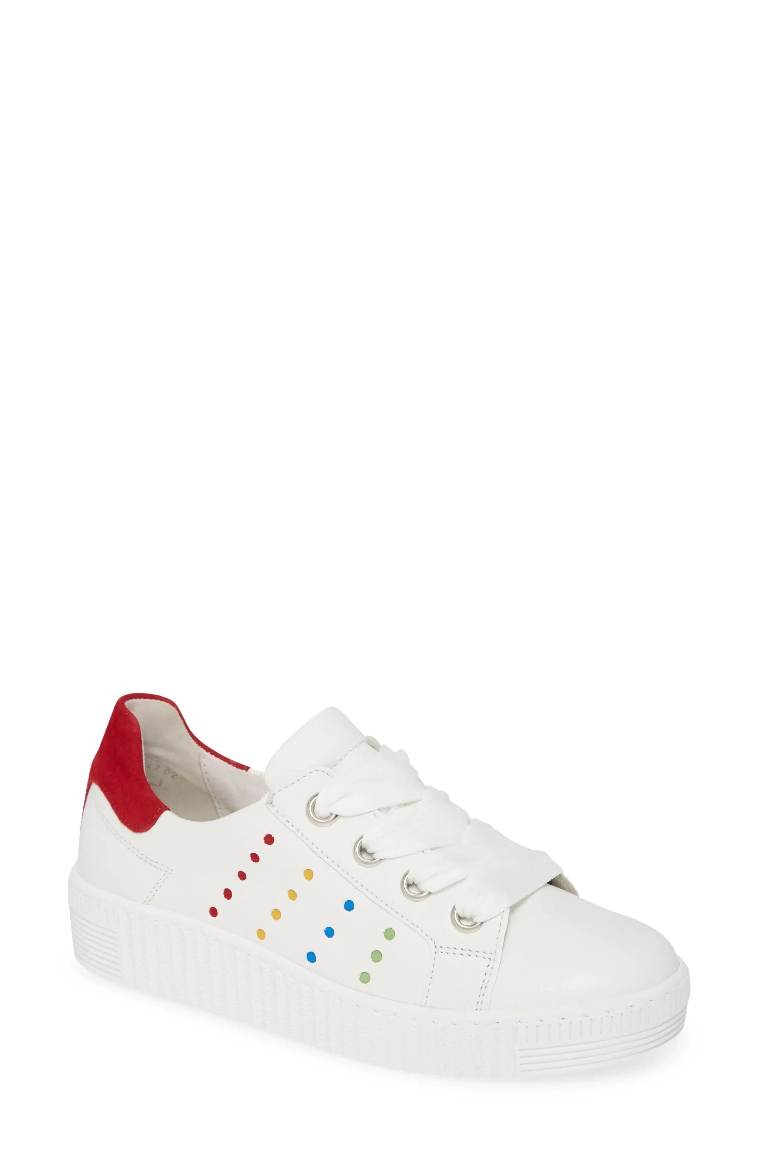 Women's Gabor Fashion Lace-Up Sneaker, Size 7.5 M - White