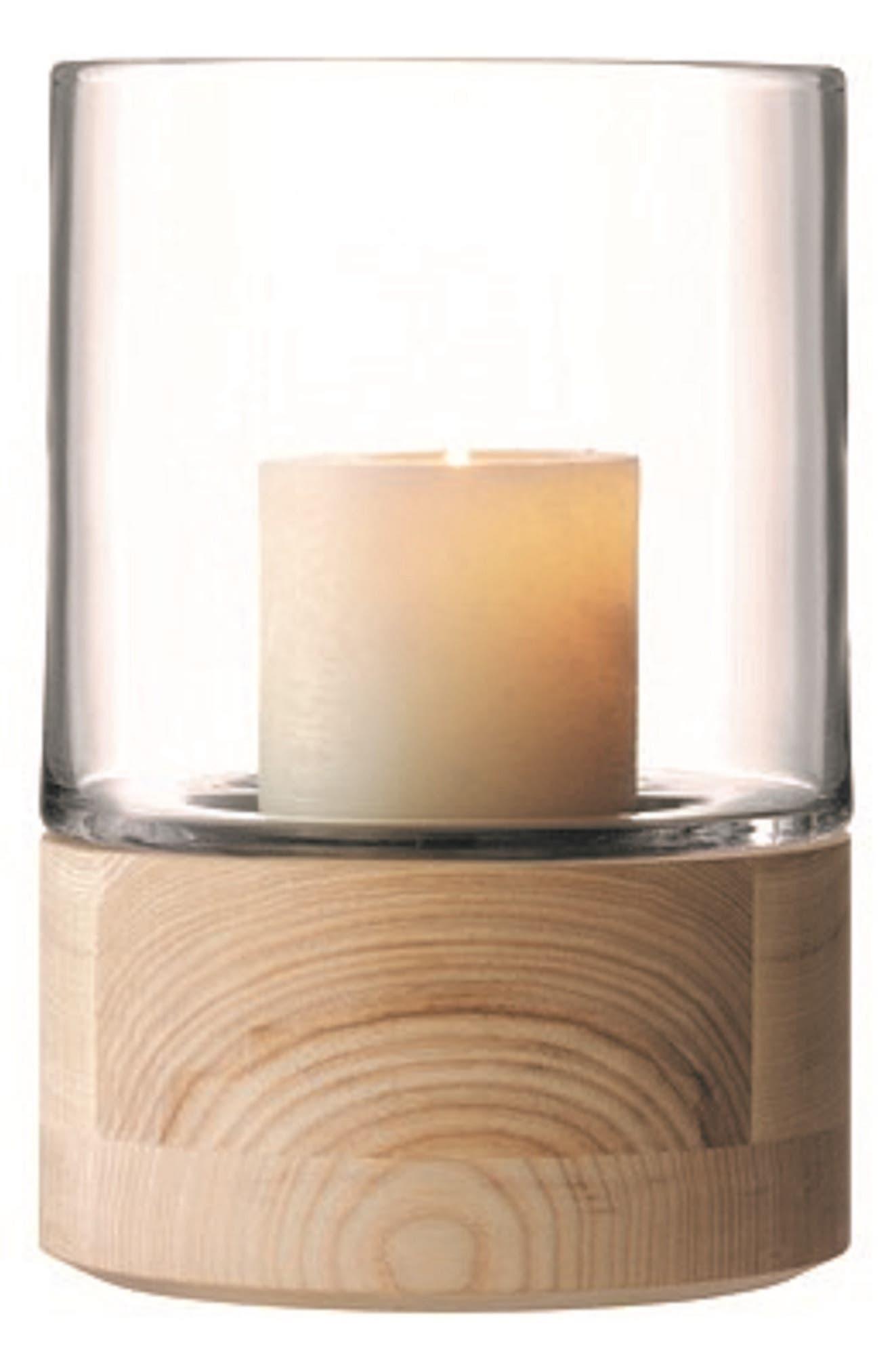 Lsa Ash Base Glass Lantern, Size One Size - White