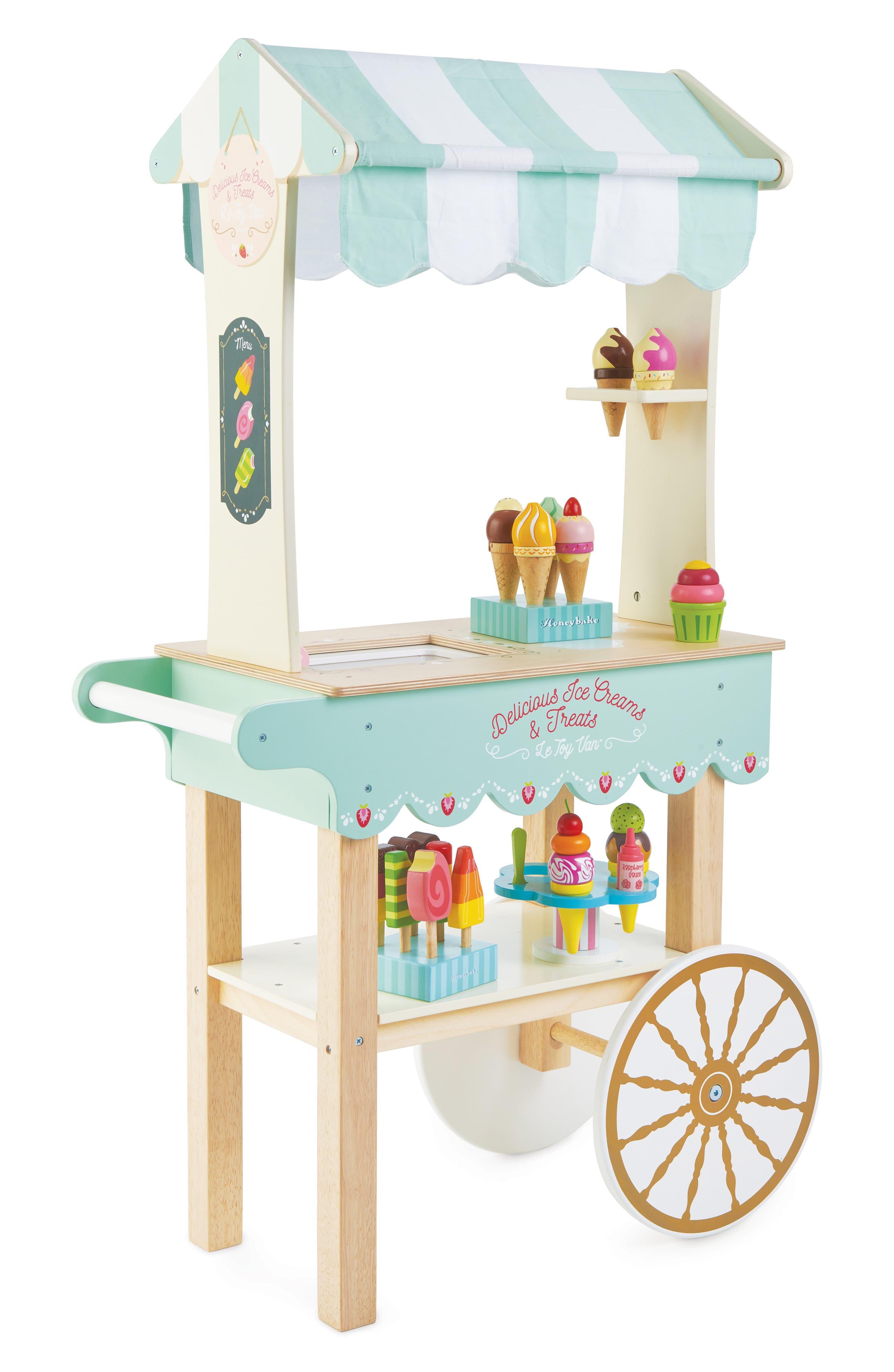 Le Toy Van Girl's Le Toy Van Ice Cream Trolley Toy Set