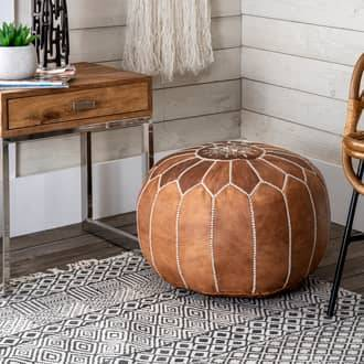 Rugs USA Brown Moroccan Ottoman furniture - Contemporary Round 14
