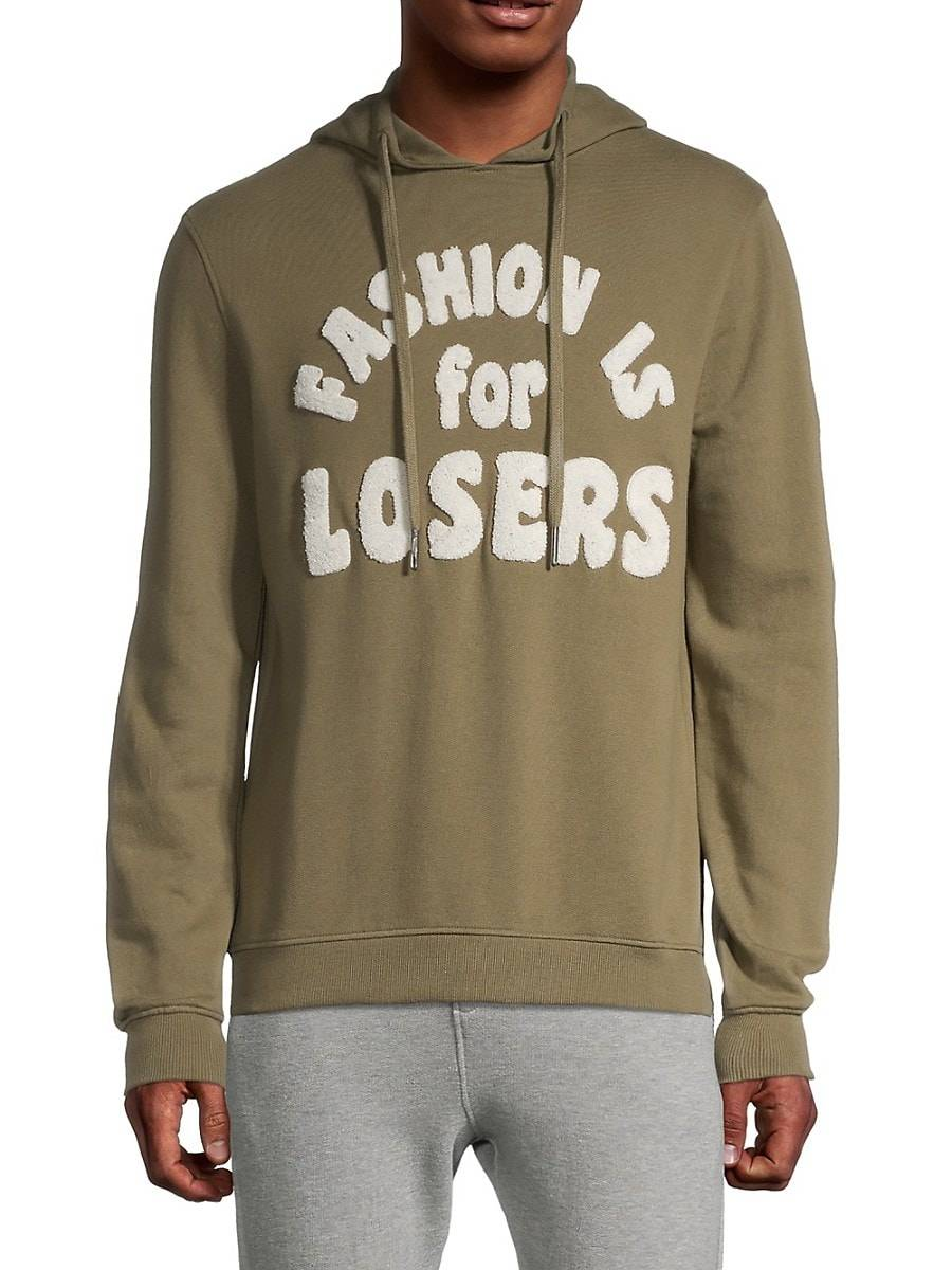 Eleven Paris Men's Fashion Is For Losers Hoodie - Soldier - Size S  Soldier  male  size:S