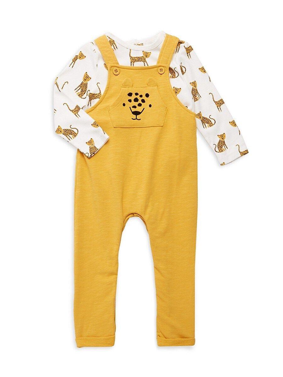 Focus Kids Baby Boy's Safari Animal 2-Piece T-Shirt & Overalls Set - Yellow - Size 12 Months  Yellow