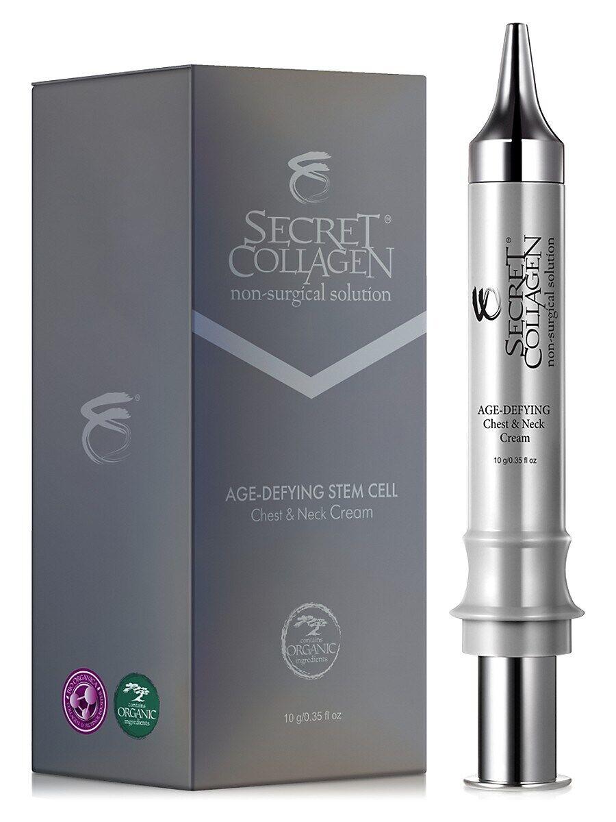 Secret Collagen Women's Age-Defying Apple & Grape Stem Cell Chest & Neck Cream Syringe - Size 1.7 Oz