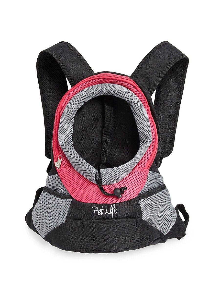 Pet Life On-the-Go Supreme Travel Bark-Pack Backpack Pet Carrier - Pink  Pink  unisex  size: