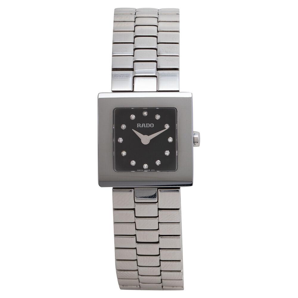Rado Black Stainless Steel DiaStar 322.0682.3.070 Women's Wristwatch 20 mm