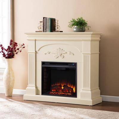 Brylane Home Sicilian Harvest Electric Fireplace by Brylane Home in Ivory