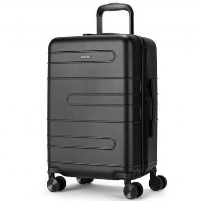 Costway 20 Inch Expandable Luggage Hardside Suitcase with Spinner Wheel and TSA Lock-Black