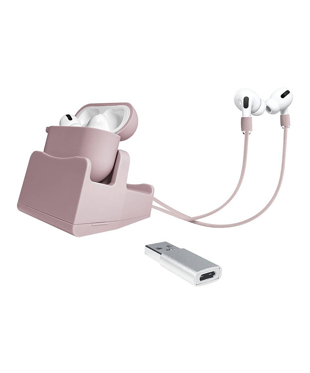 Headphone Accessories Rose - Apple AirPods Pro with Rose Gold Accessories Set