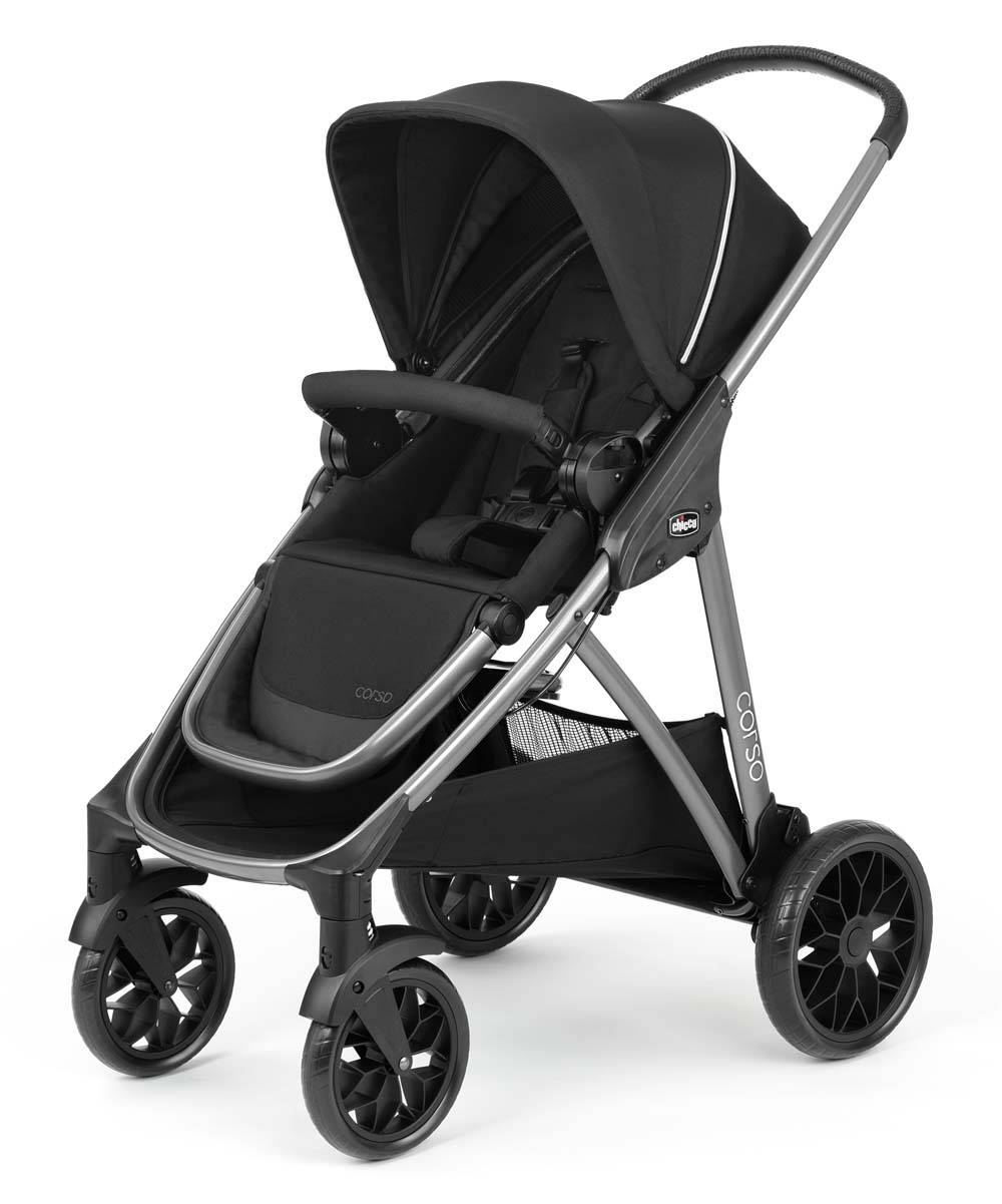 Chicco Strollers Black - Black Corso Modular Quick-Fold Stroller
