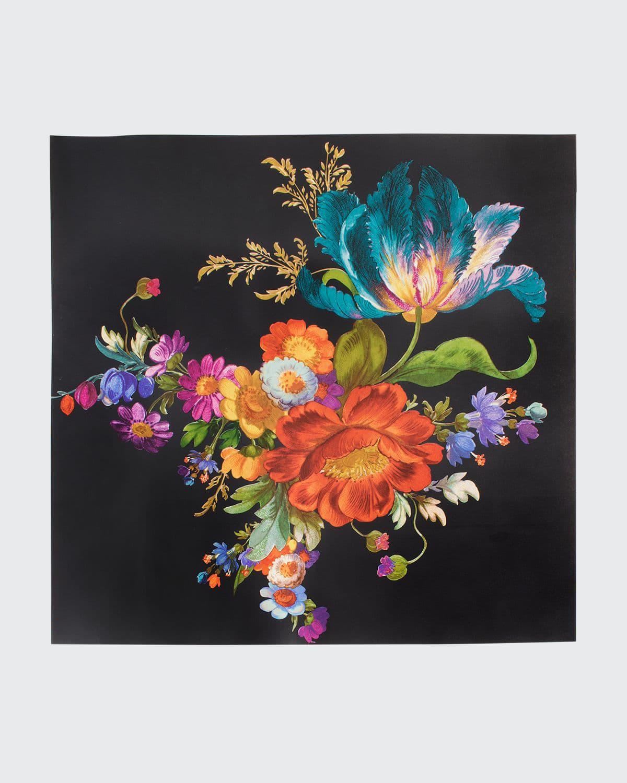 MacKenzie-Childs Flower Market Black Wallpaper  - Size: unisex