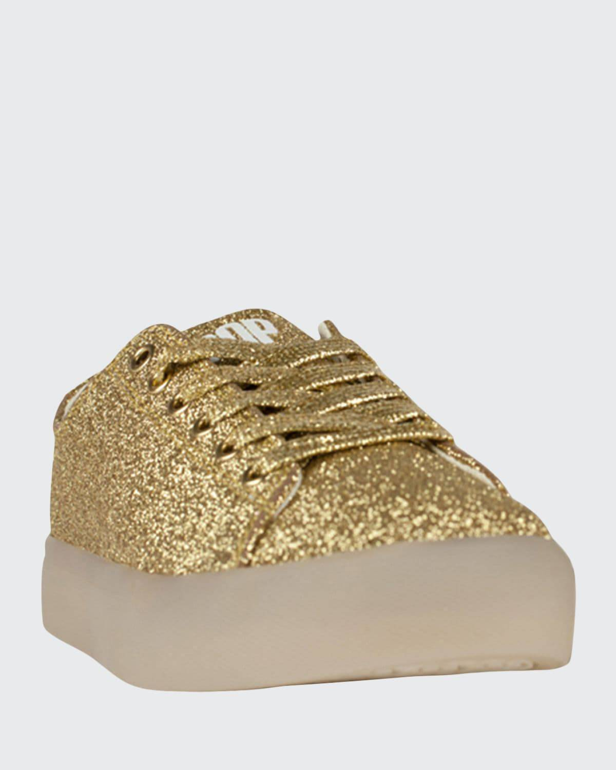 Pop Shoes EZ Glitter Light-Up Sneakers, Toddler/Kids  - GOLD - GOLD - Size: 11 Tod