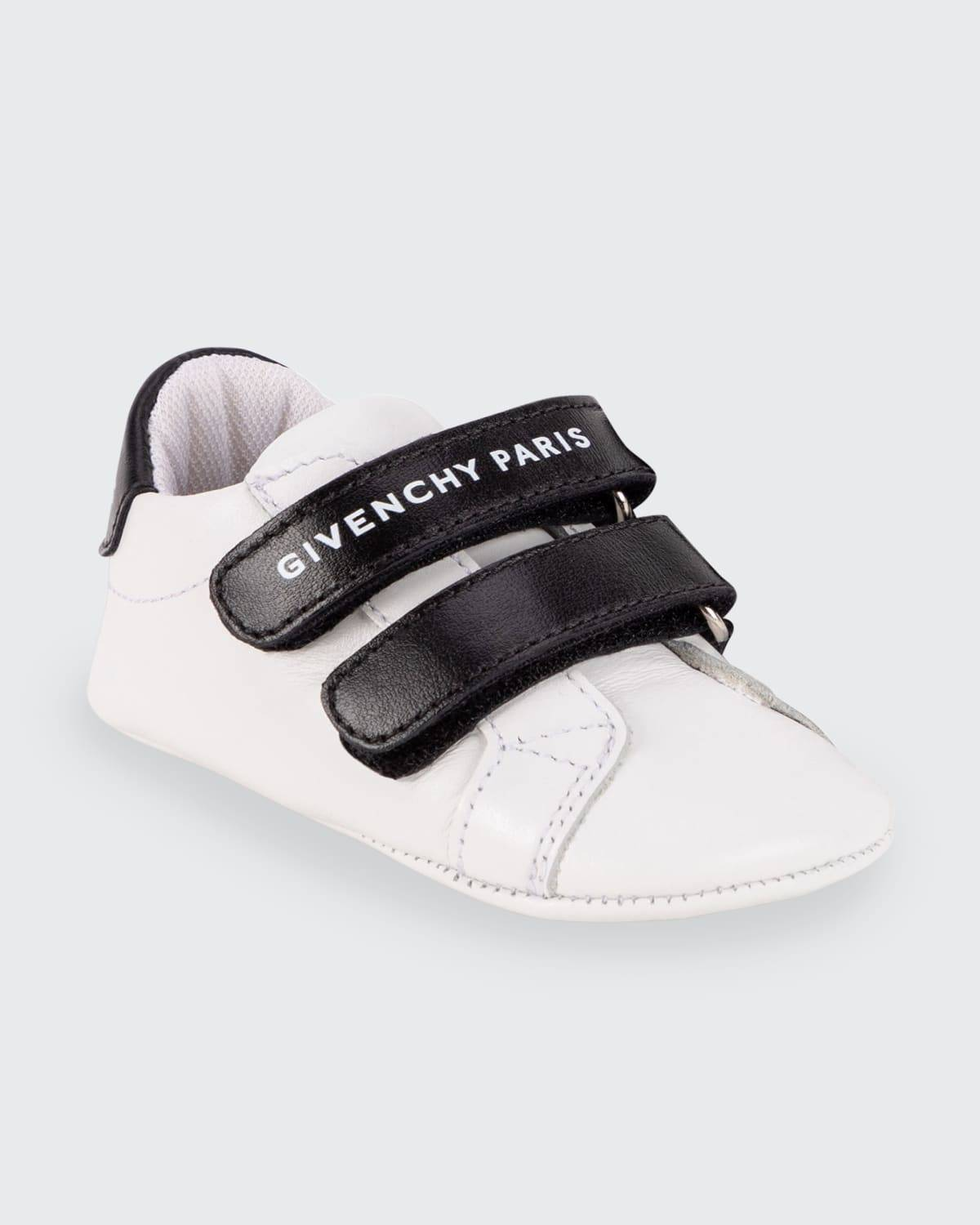 Kid's Bicolor Leather Low-Top Sneakers, Baby Sizes 3M-12M  - 10B WHITE - 10B WHITE - Size: 19EU (9-1