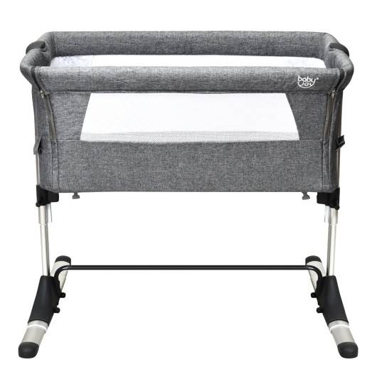 Travel Portable Baby Bed Side Sleeper Bassinet Crib with Carrying Bag-Gray