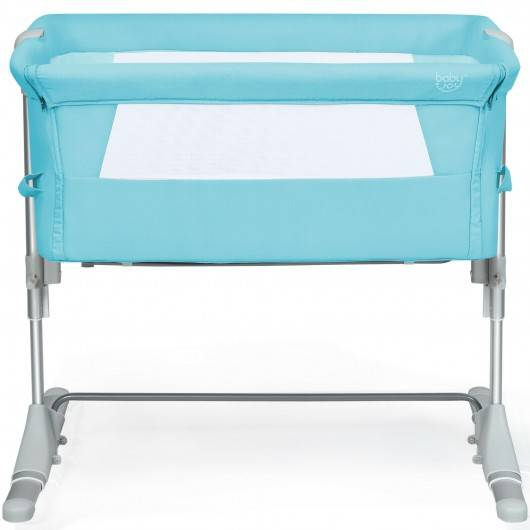 Costway Travel Portable Baby Bed Side Sleeper Bassinet Crib with Carrying Bag-Green