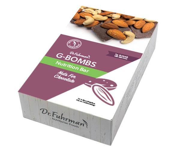 Dr. Fuhrman G-BOMBS Nutrition Bar - Nuts for Chocolate