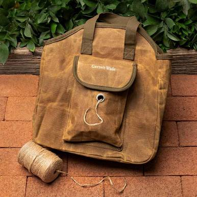 Waxed Cotton Garden Tote With Jute Twine
