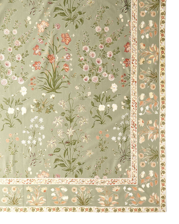 Handprint Garden Sage Tablecloth, 60
