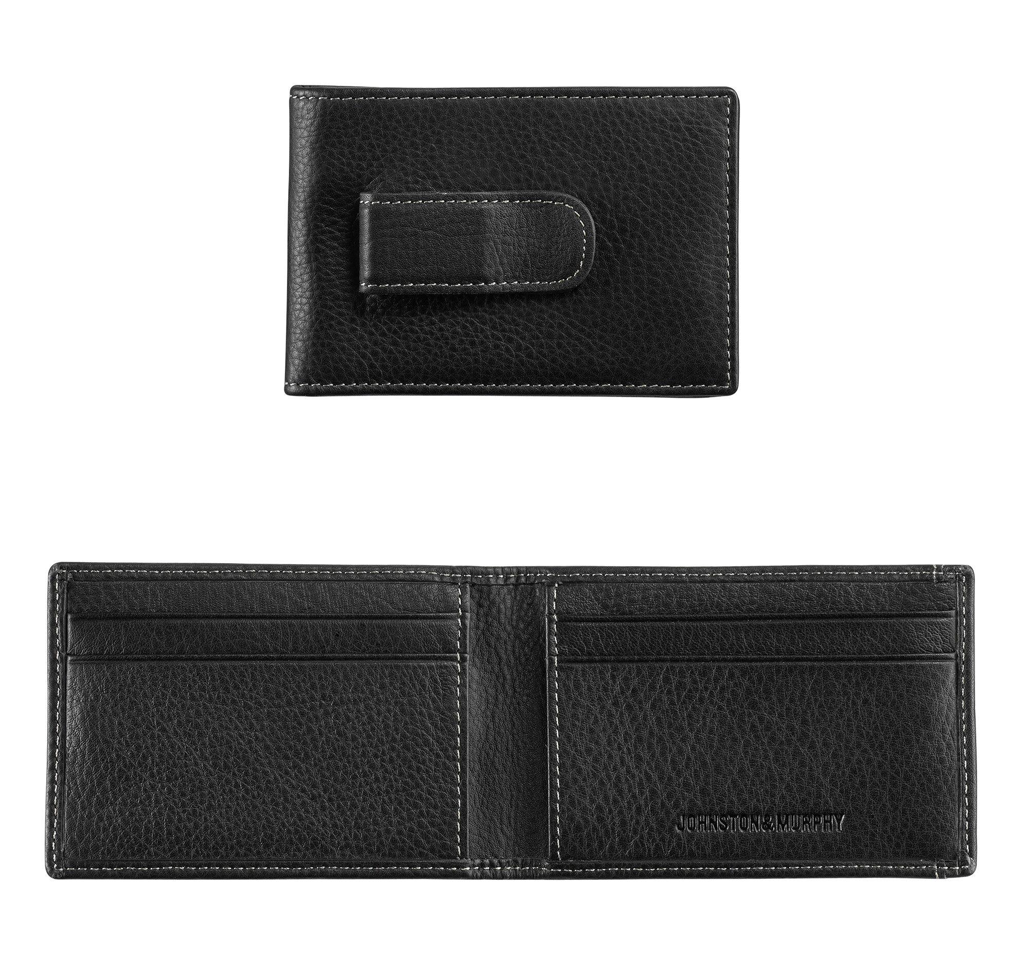 Johnston & Murphy Men's Two-Fold Money Clip Wallet - Black - Size EACH
