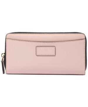 Marc Jacobs Vertical Zippy Leather Wallet - Women - Adobe Rose