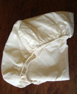 Holy Lamb Organics Organic Cotton Sateen Bassinet Fitted Sheet Bedding - Natural - Size: Crib