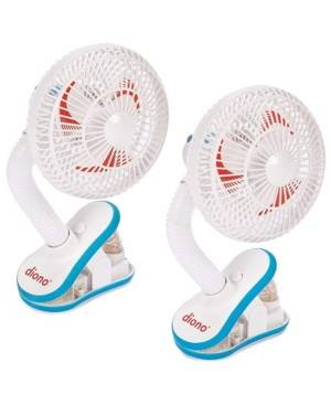 Stroller Fans, Pack of 2 - White - Size: ONE SIZE
