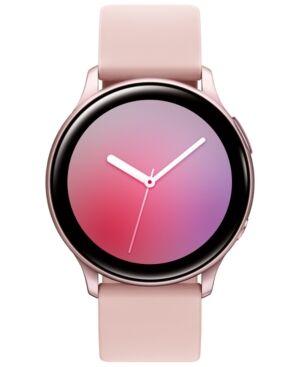 Samsung Galaxy Active 2 Blush Silicone Strap Touchscreen Smart Watch 40mm - Women - Pink Gold