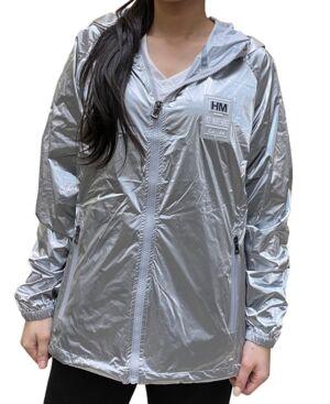 Women's Fashion Hooded Zip-Up Windbreaker - Women - Silver-Tone - Size: S