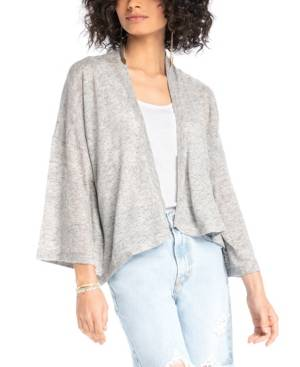 Synergy Organic Clothing Butterfly Cardigan - Women - Heather Gray - Size: L
