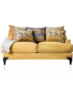 Furniture of America Nisene Upholstered Love Seat - Sand - Size: No Size