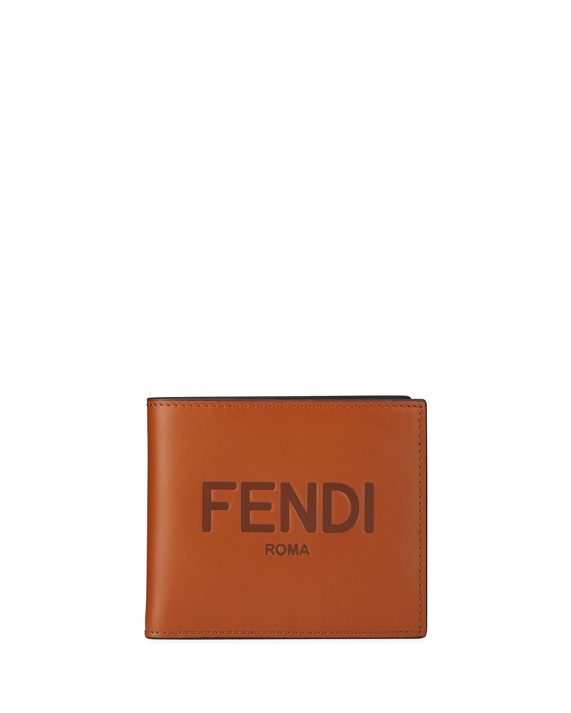 Men's Logo-Embossed Leather Billfold Wallet - LEATHER EBONY PAL