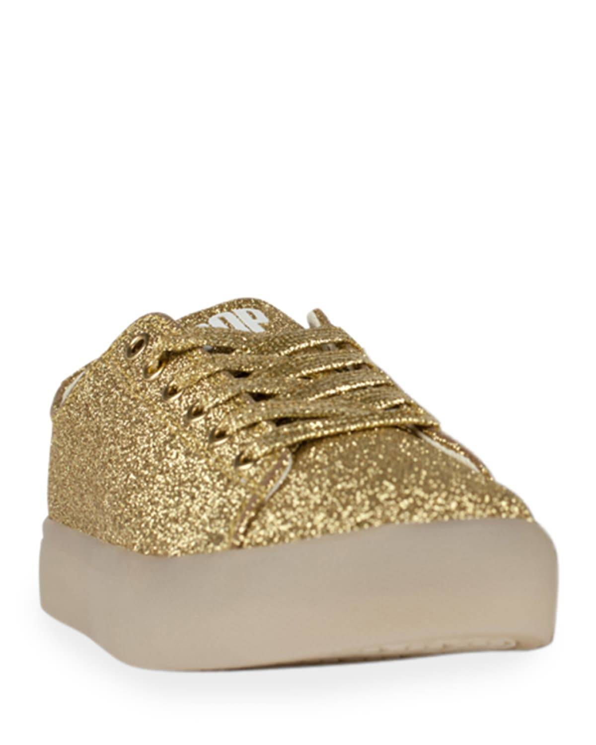 Pop Shoes EZ Glitter Light-Up Sneakers, Toddler/Kids - Size: 11 Tod - GOLD