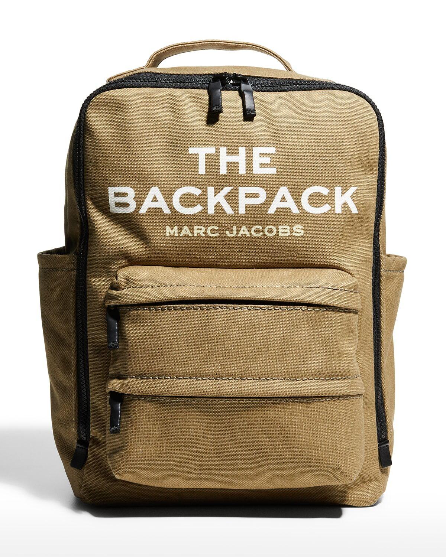 The Backpack Canvas Logo Bag - SLATE GREEN